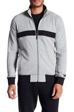Converse Men's Gray & Black Heathered Print Track Jacket Size XL
