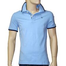 Polo HARRIS WILSON homme maille piquée bleu pale taille M