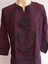 Ganesh Cotton Meditation Ganesha Ganapathi Men's T Shirt GT15L