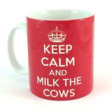 NEW KEEP CALM AND MILK THE COWS GIFT MUG CUP PRESENT DAIRY FARMER FARM FARMING