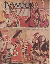 TV WEEK Baltimore Sun December 14 1975 ALICE IN WONDERLAND cover Cloris Leachman