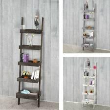 Serie vintage scaffale portaoggetti legno paulonia 5 ripiani 32x43x169cm