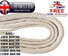Natural 100% Cotton Braided Rope SASH Fishermen Bondage Cord Pulley Bag Handle