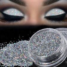 Kosmetik Sparkly Make-Up Glitzer Loser Puder Lidschatten Silbern Pigment
