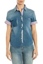 Camicia Armani Jeans AJ Shirt -60% Made In Italy Donna Denim A5C19G6-15 SALDI