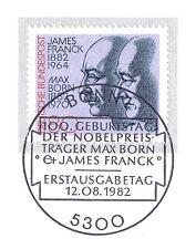BRD 1982: Max Born y James Franck nº 1147 con bonner sello especial! 1a 155
