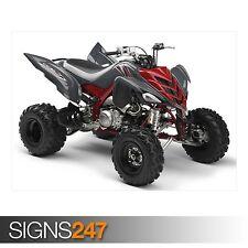 YAMAHA RAPTOR 700R GREY (AC042) ATV POSTER - Photo Poster Print Art * All Sizes