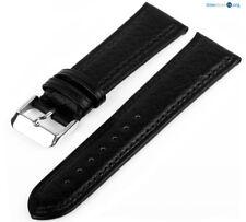 Lederarmband Schwarz Genarbt LX50 Uhrenarmband Armband Gepolstert Band 7019869