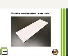 70mm breit, 10m lang Fensterleiste Flachprofil PVC mit Lippe selbstklebend Abdeckleiste