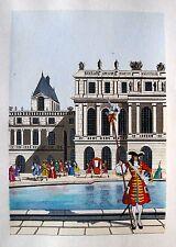 JEAN GRADASSI Memoirs of Cardinal Dubois 1950 Color Illustration ROYAL GUARD