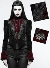 Veste blazer gothique lolita baroque victorienne cintré broderie velours Punkrav