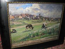LUDWIG Max, *1873 Kühe auf Wiese vor Dorf