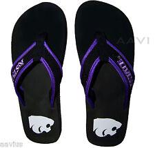 Kansas State Wildcats Men's Purple Strap Officially Licensed Flip Flops Sandals