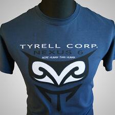 Blade Runner Nexus 6 Tyrell Corp Replicant Retro Movie T Shirt Blue