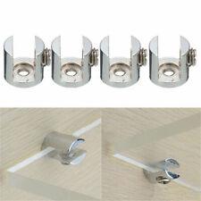 2/4/8pcs Glass Shelf Support Clamp Brackets Clip Polished Chrome Shelves 6-12mm