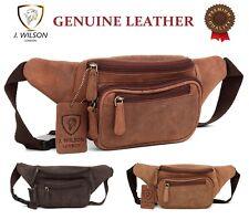 Genuine Distressed Leather Bum Bag Money Waist Belt Holiday Festival Cash Wallet