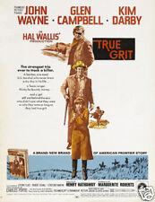 True grit John Wayne cult western movie poster print