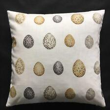 "Sanderson Fabric Cushion Cover NEST EGG Corn/Graphite - 18"" or 20"""