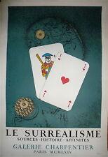 Max Ernst affiche originale litho Mourlot Surréaliste 1964 abstraction art