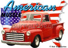 1949 Red GMC Pickup Truck a Custom Hot Rod USA T-Shirt 49 Muscle Car Tees