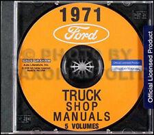 1971 Ford Truck Shop Manual Set CD Pickup Van Bronco F100 F250 F350 E100-E300 71