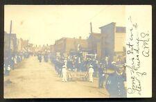Marathon rppc Military Parade Cortland NY stamp 1908