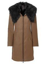 Donna Rainbow inverno caldo cappotto pelliccia sintetica giacca marrone chiaro