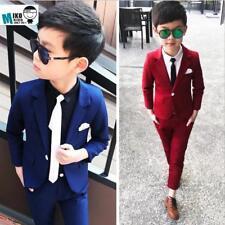 2pcs Toddler Baby Boys Blazer Suit For Coat+Pants For Concert Party Wedding Sets