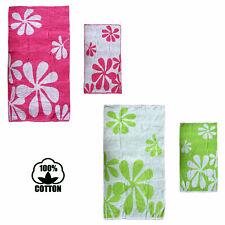 Jacquard Reversible Cotton Floral Beach Bath Towel 80cmx148cm