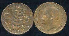 ITALIE  ITALY  5 centesimi 1921