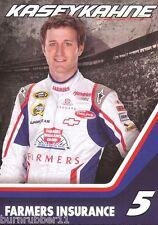 """2012 KASEY KAHNE """"FARMER INSURANCE"""" #5 NASCAR SPRINT CUP SERIES  POSTCARD"""