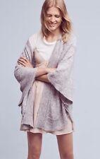 NEW Anthropologie Gray Wool/Alpaca Poncho Sweater