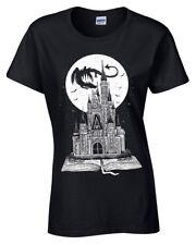 Hada Cola Libro Camiseta Mujer Bonito Story Dragón Castillo Fantasía Moon Mujer