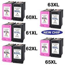New Chip combo pk Ink Cartridge Black & Color For HP 63 XL 65 XL 61 XL 60XL 62XL