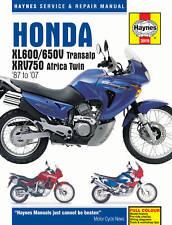 Honda XL600 XL650 XL650V Transalp XRV750 1987-2007 Manuale Haynes 3919 NUOVO