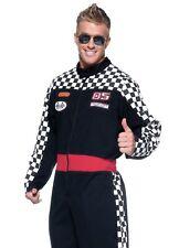 Race Car Driver Adult Costume Men's Racecar NASCAR Stock Racing Auto 05 F1 Black