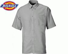 Dickies Oxford Weave Short Sleeved Work Shirt, Silver Grey, SH64250