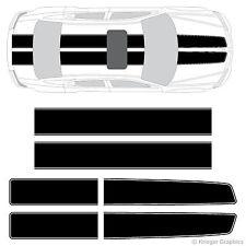 Dodge Avenger EZ Rally Racing Stripes 3M Vinyl Stripe Decals Graphics