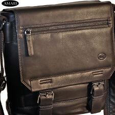 AMARI Umhängetasche Messenger Schultertasche iPad-Tasche Nappaleder First Class