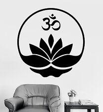 Wall Sticker Buddha Om Symbol Zen Lotus Meditation Vinyl Decal (z2917)