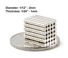 "2mmx1mm Neodymium Disc Magnets - 2x1 mm - 2*1 mm - 1/12""x1/24"" Fridge Magnets"