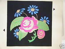 POCHOIR DE FLEURS 20ème siècle ART NOUVEAU