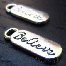 Believe Wholesale Inspirational Message Charm Pendants C5509 - 10, 20 Or 50PCs