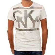 T Shirt Calvin Klein Homme manche courte CMP85T écru Taille S M L XL