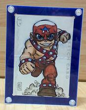 Single Hinged Marvel Sketch Card Holder Display Case with Satin Aluminum Screws