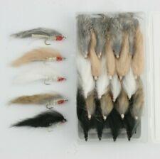 X4 & X16 Minkie Streamers Size10 L/S, 4 Colour Variations, Trout Flies.