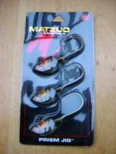 MATZUO PRISM JIG 3/8 OZ ( MPJ38-BT)  CARD OF 3 JIG HEADS