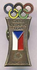 2004 ATHENS Czech Republic NOC pin BADGE Olympic Team BRONZE variant