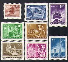 Hungary 1964 Postal Transport/Radio/Telecomms/Motorcycle/Bike/train 8v (n36953)