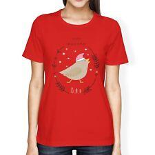 1Tee linea Donna Loose Fit Gufo Buon Natale Animale T-shirt